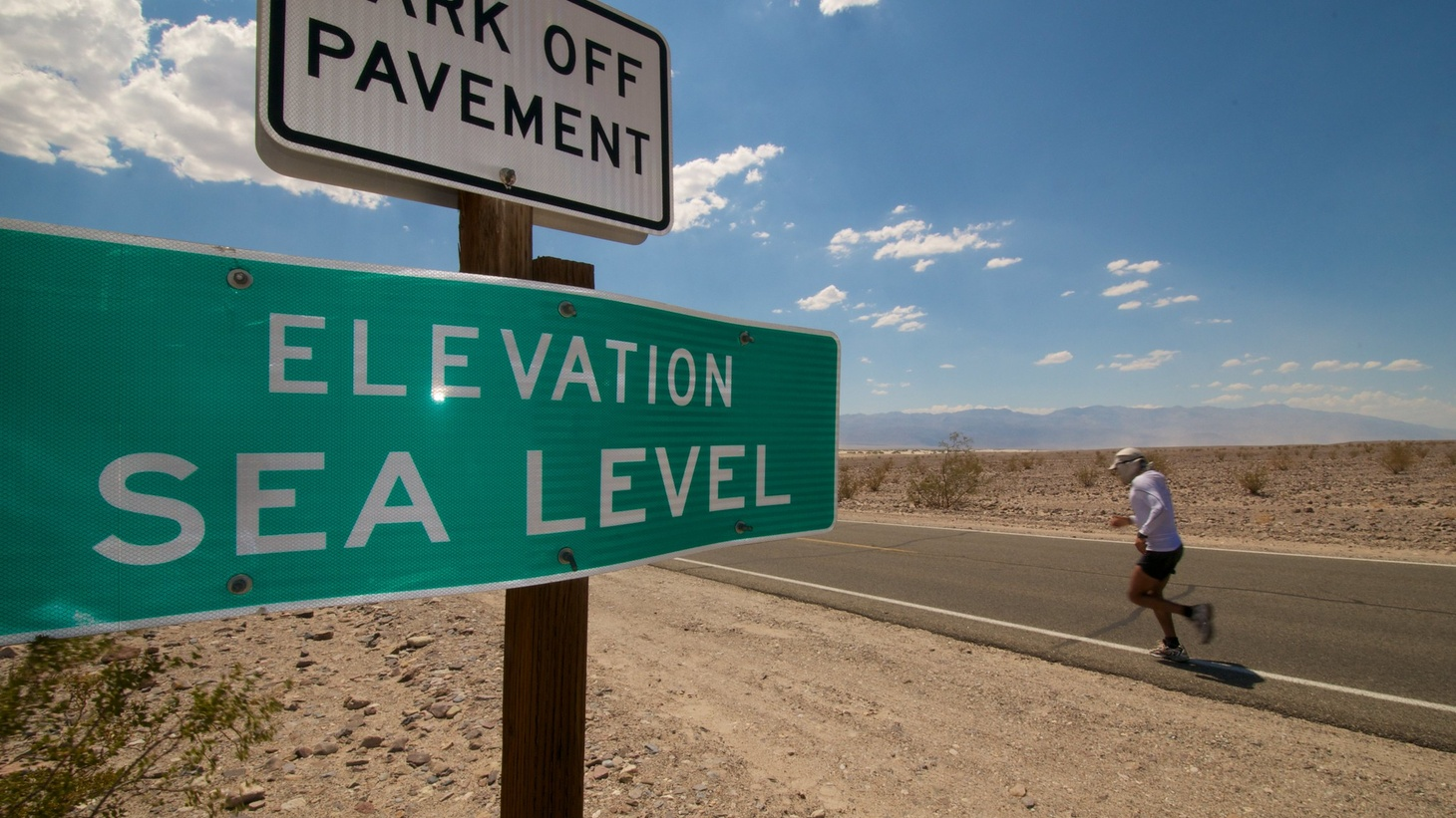 """Some of the hottest temperatures on the planet are not stopping the Badwater ultramarathon runners from racing through Death Valley. To attempt to finish a 135-mile race within two days, """"a certain amount of insanity is a prerequisite,"""" according to Bob Becker, a 76-year-old ultramarathoner."""