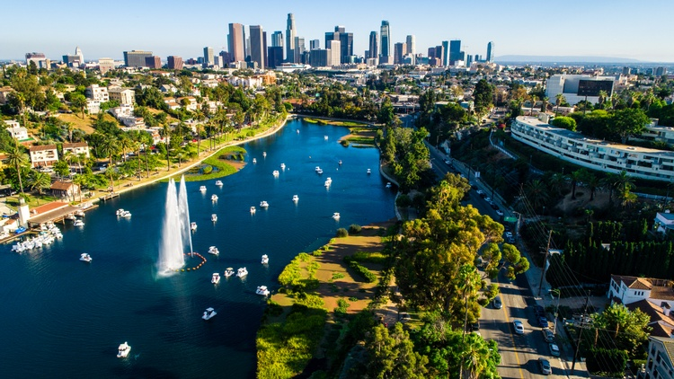 Echo Park Lake reopened to the public this week after two months of being closed for repairs, with some obvious changes.