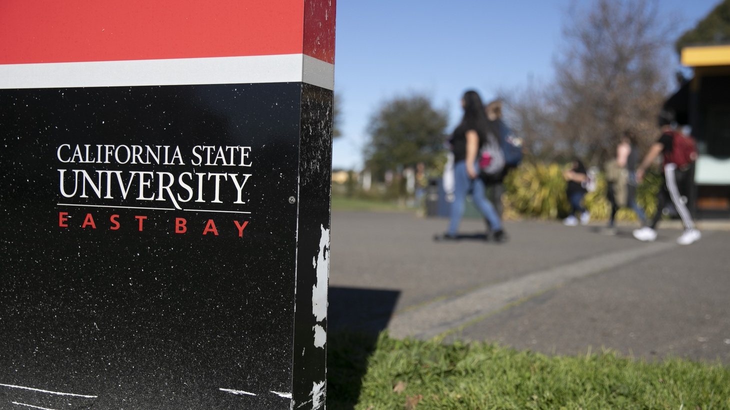 As the coronavirus has blown a hole in the state budget, California campuses such as California State University East Bay campus face budget cuts.