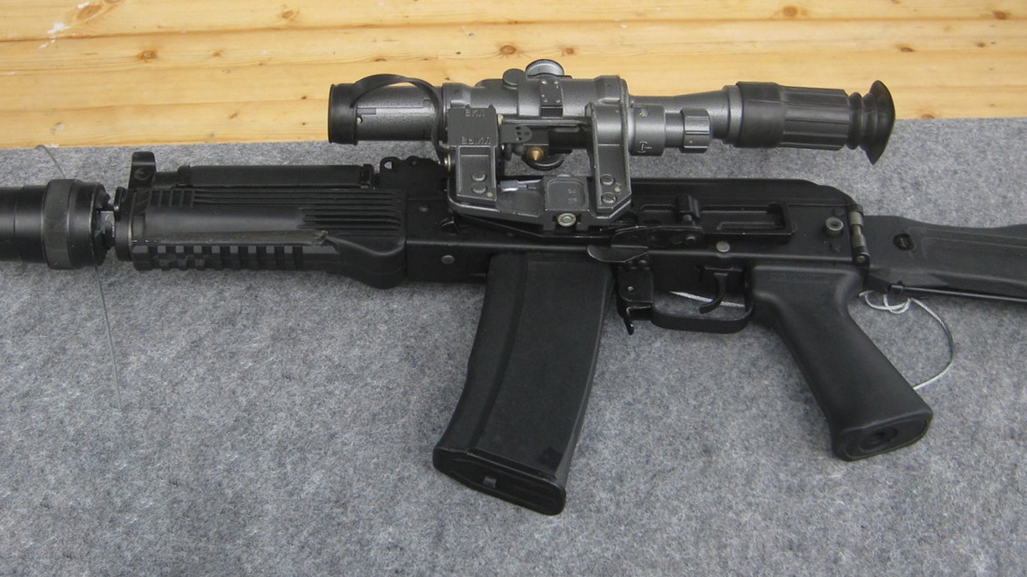 An AK-9 assault rifle. Journalist Leon Krauze says guns, especially assault weapons, are being bought in the U.S. and then smuggled into Mexico, which is fueling violence involving drug cartels.