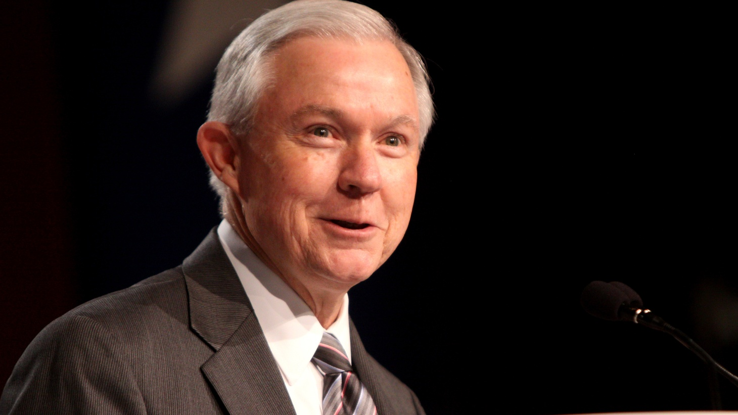 US Attorney General Jeff Sessions visited Los Angeles today to speak at meeting of the Criminal  Justice Legal Foundation. But his trip was met with protests.