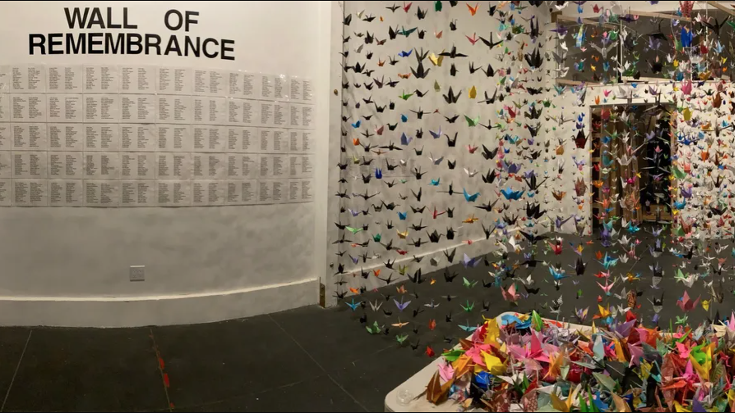 Karla Funderburk of Matter Studio Gallery says she started this origami crane project to process the COVID-related grief she was feeling and witnessing.