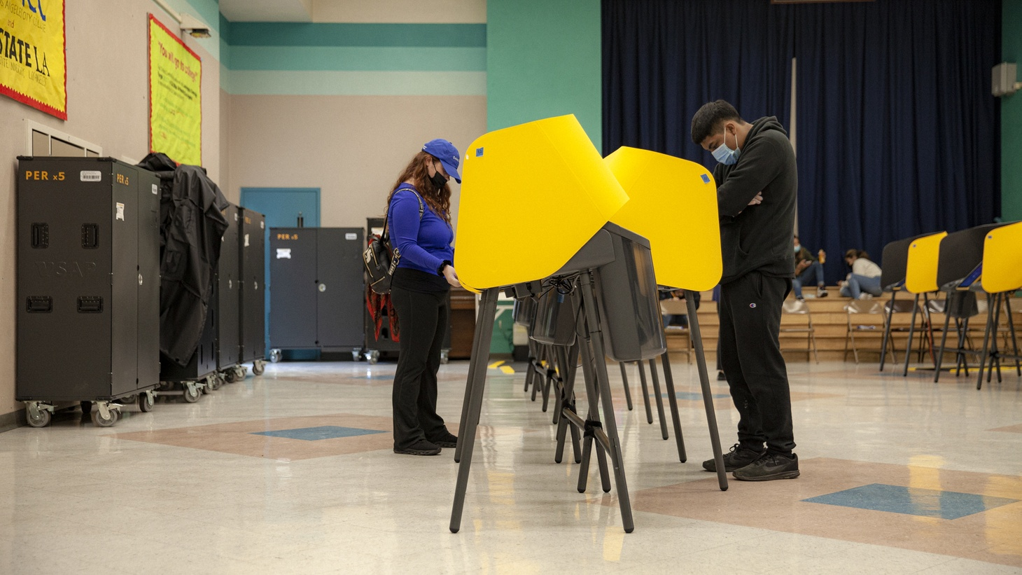 Lines at many LA County vote centers were short on Election Day.