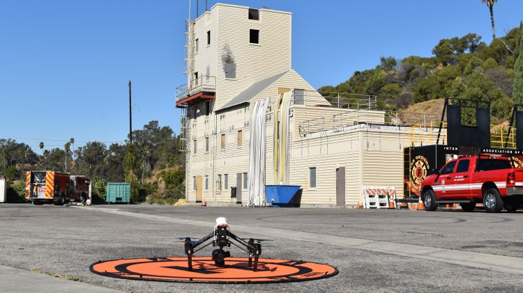 LA Fire Department uses drones to combat wildfires