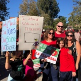 LAUSD teachers and educators march ahead of a likely strike