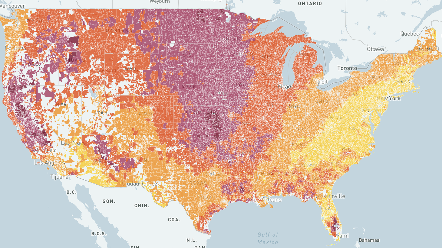 NPR's California Newsroom partnered with Stanford University's Environmental Change and Human Outcomes Lab to map the rise of wildfire smoke across the country