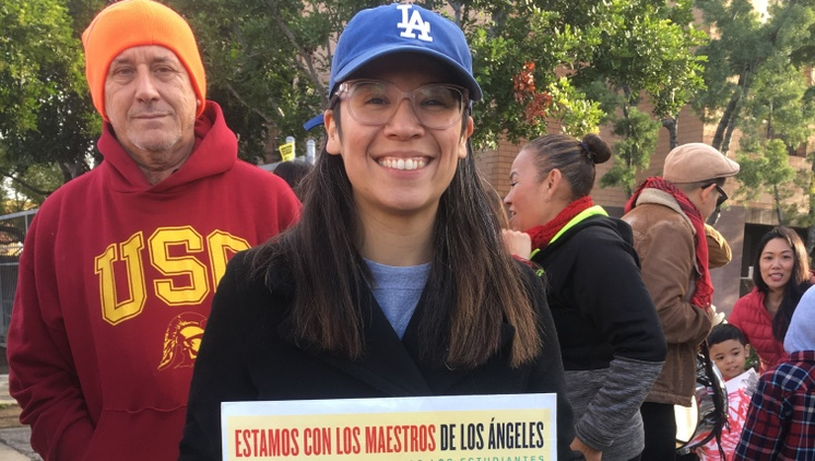 Meet the face of the LA teachers strike