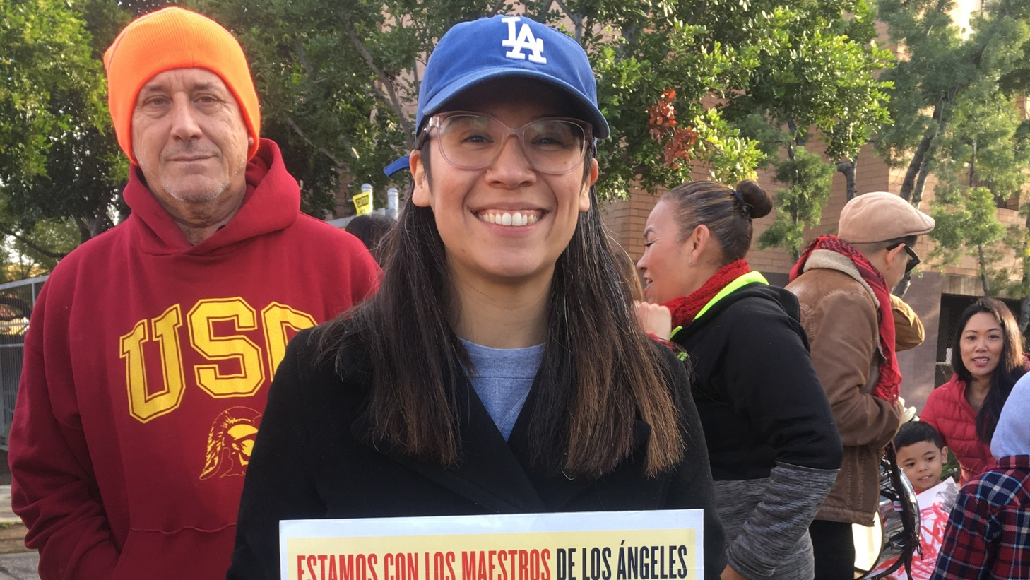 Roxana Duenas has become the face of the strike.