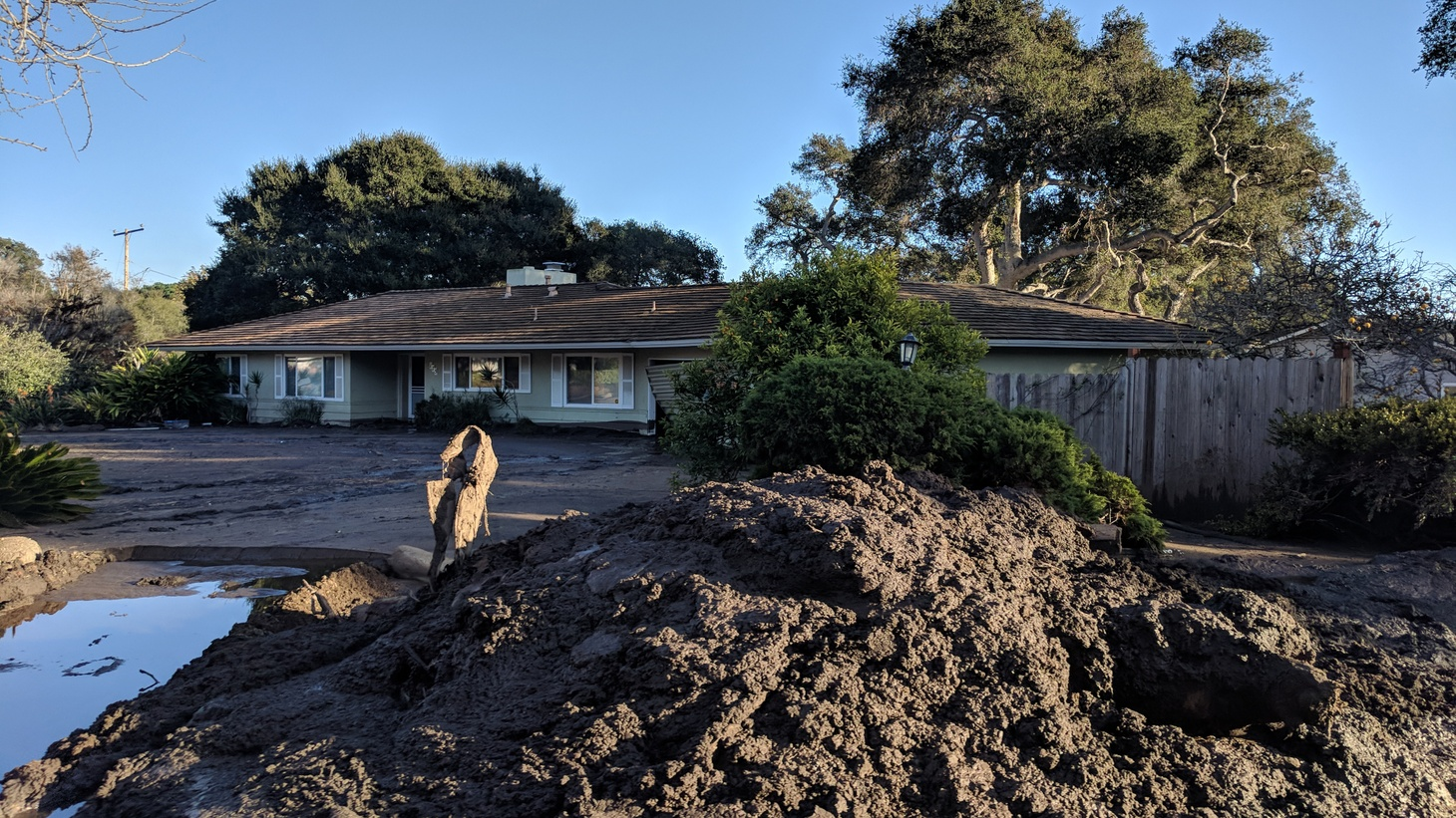 At a vineyard in Los Olivos, a winemaker is using a special type of fertilizer: mud from the January 9th debris flow in Montecito.