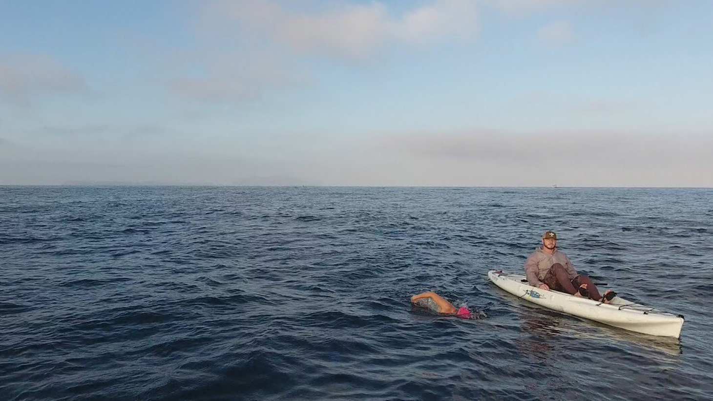 Next week, Santa Barbara open ocean swimmer Rachel Horn plans to swim across the Santa Barbara Channel from Santa Cruz Island to Oxnard - a total of 19 miles.
