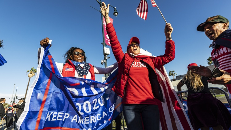 On Sunday, Nov. 8, about 200 Trump supporters lined up on Santa Monica Blvd., protesting that the Democratic party stole the presidential election from Donald Trump.