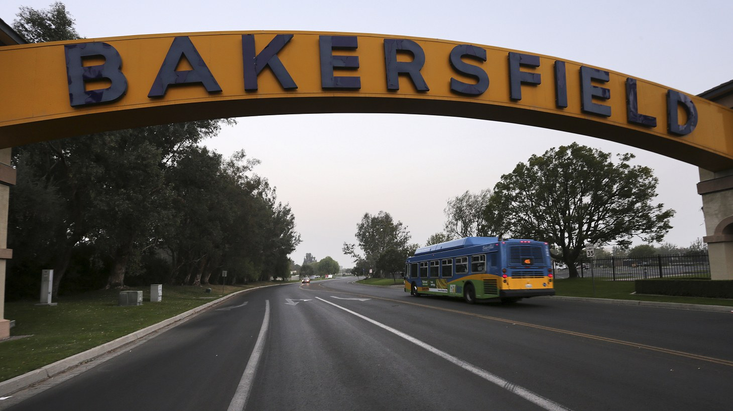 The Bakersfield Sign is something of a local icon. The archway is visible from State Route 99 and was first built in 1949.