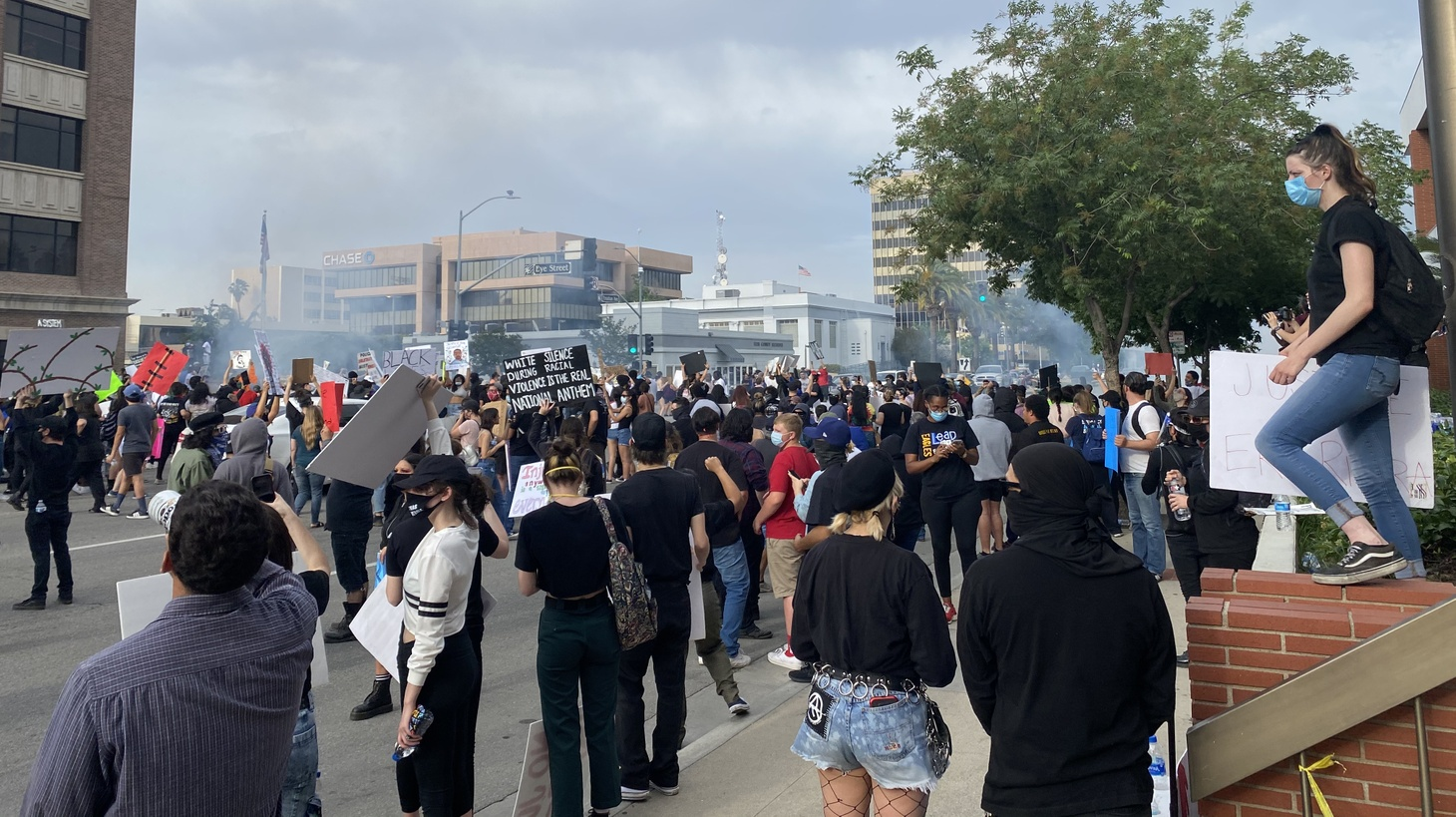 Hundreds of protestors gathered in the heart of downtown Bakersfield on the evening of May 29, just days after George Floyd was killed in Minneapolis and nationwide demonstrations began.