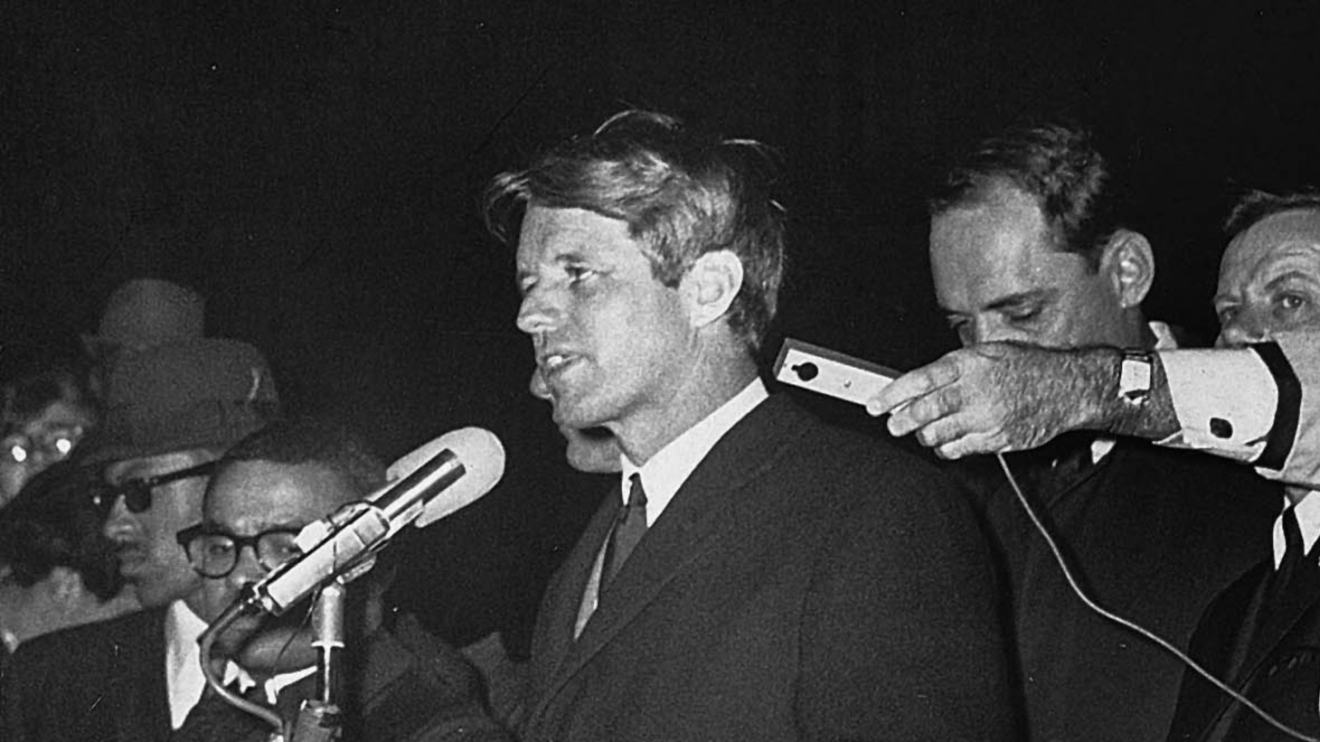Bobby Kennedy had to address a campaign crowd the night that the Reverend Dr. Martin Luther King, Jr., was gunned down in Memphis, Tennessee.