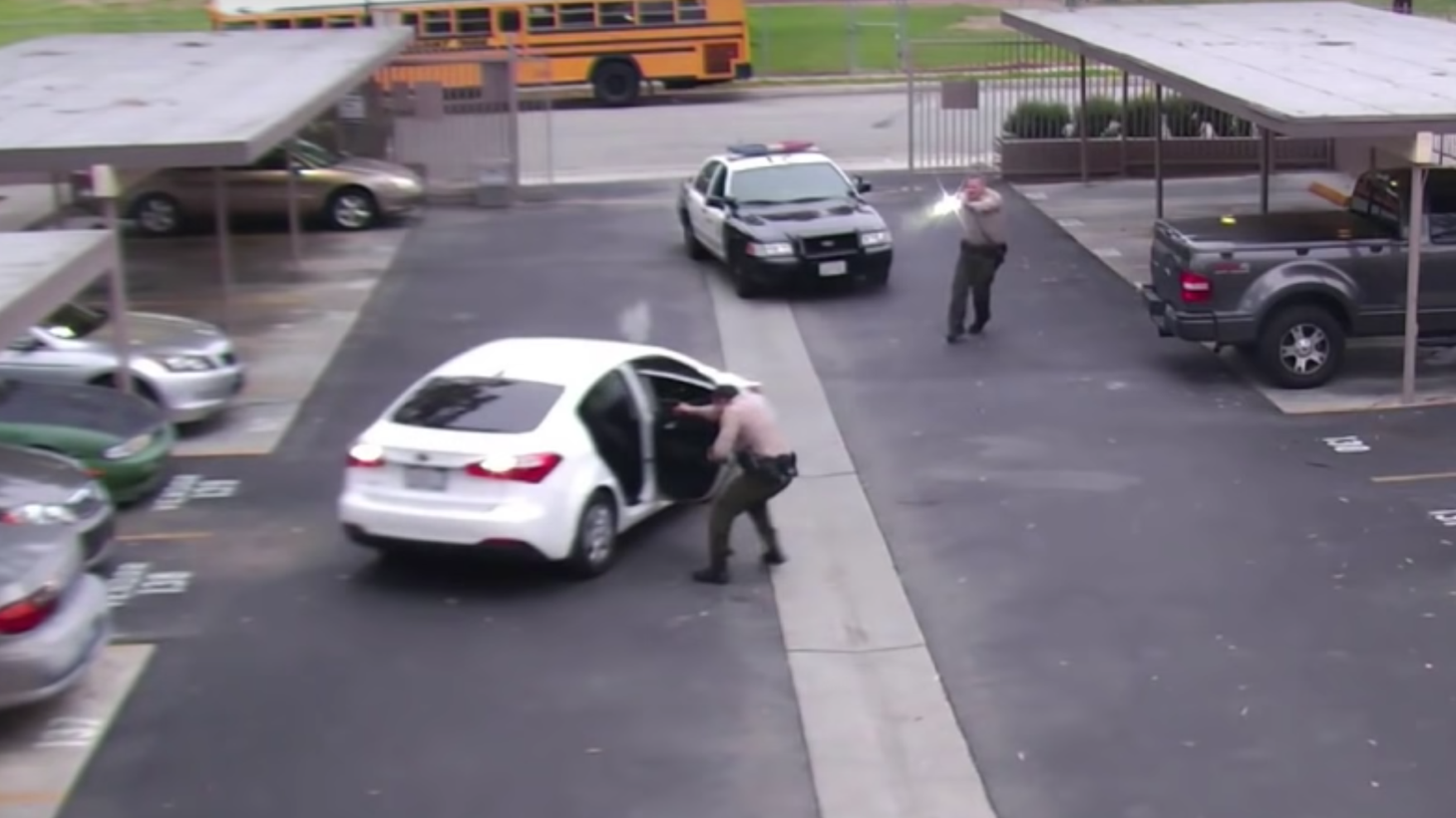 A still from the LA Sheriff's Dept. video.