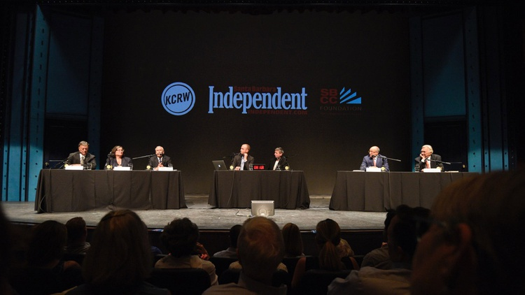 KCRW, the Santa Barbara Independent and the Santa Barbara City College Foundation co-host a debate between the five candidates running to be the next mayor of Santa Barbara.