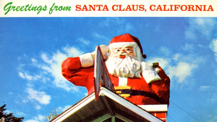 The story of Santa Claus Lane in Carpinteria starts in typical California fashion -- with an orange juice stand.