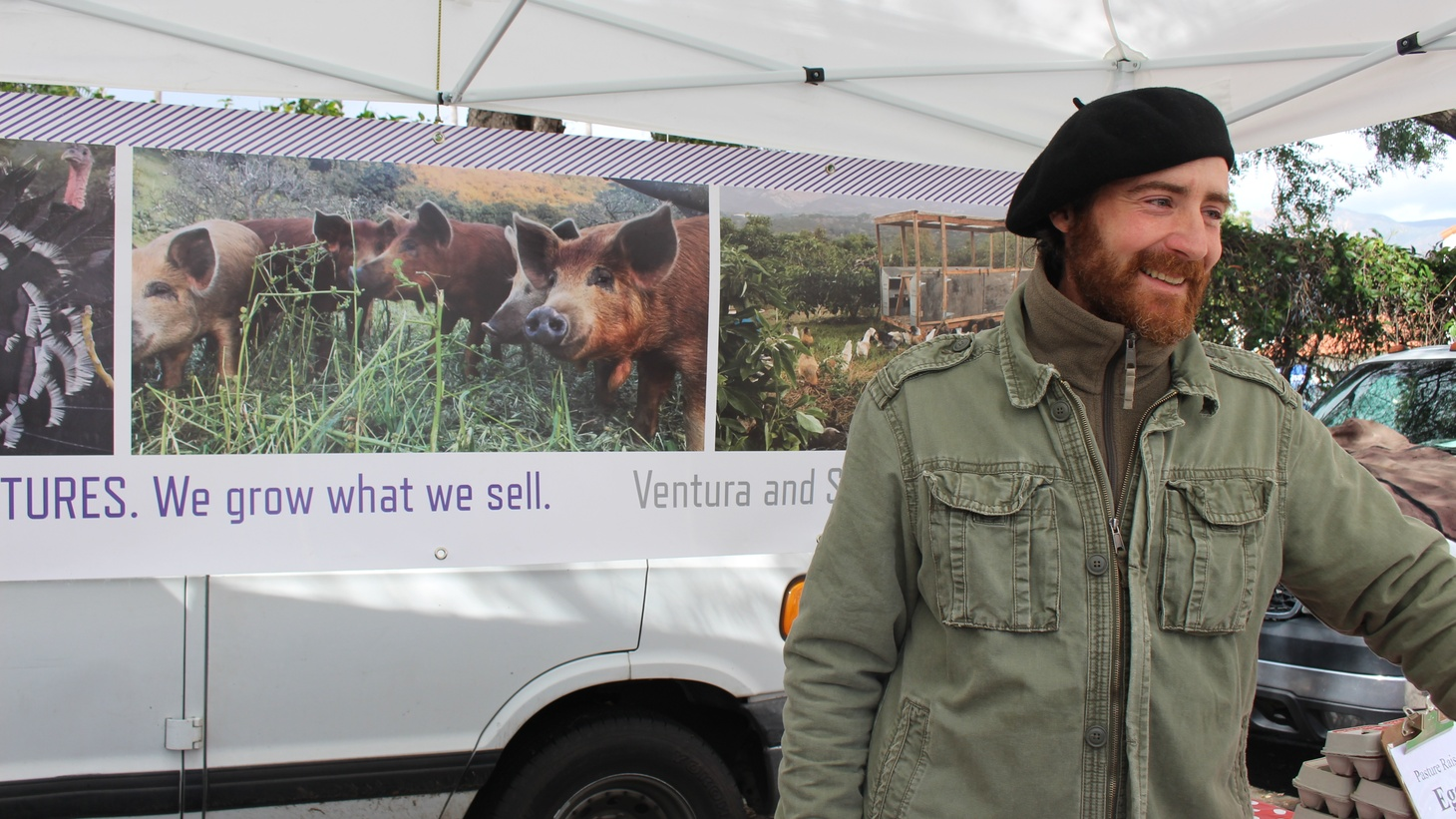 You can typically find Jeronimo Alonzo Brown on Saturday at the Santa Barbara Farmers Market