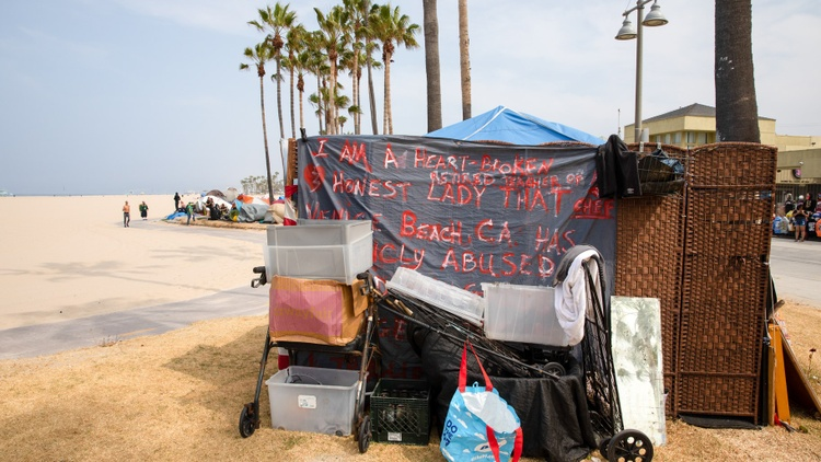 Among the 200 unhoused people along the Venice Beach boardwalk, so far 77  have been moved indoors.