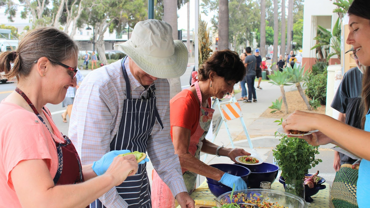 If you visit the Santa Barbara Farmers Market on certain Saturdays, you may notice new cooking demos taking place. Sometimes it's a local chef teaching you how to cook a popular dish from the restaurant.