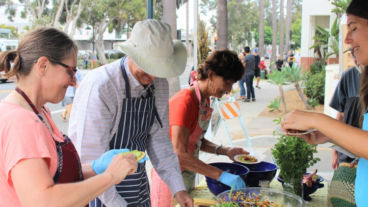 If you visit the Santa Barbara Farmers Market on certain Saturdays, you may notice new cooking demos taking place.