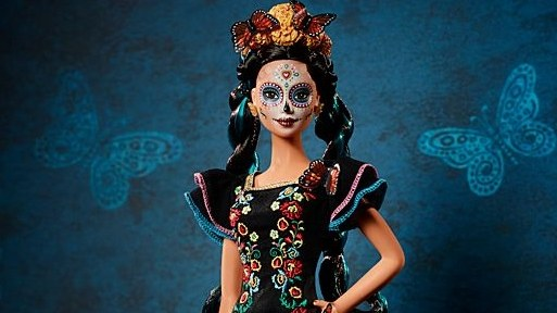 Mattel released its latest collector's item on Thursday: a   Dia de los Muertos themed Barbie  .