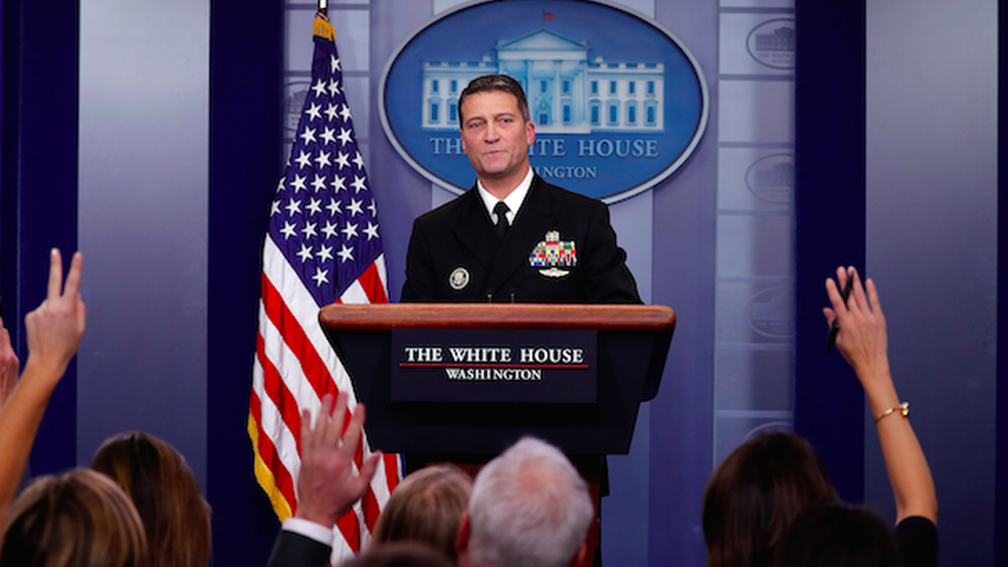 President Trump picks his own doctor to run the VA.