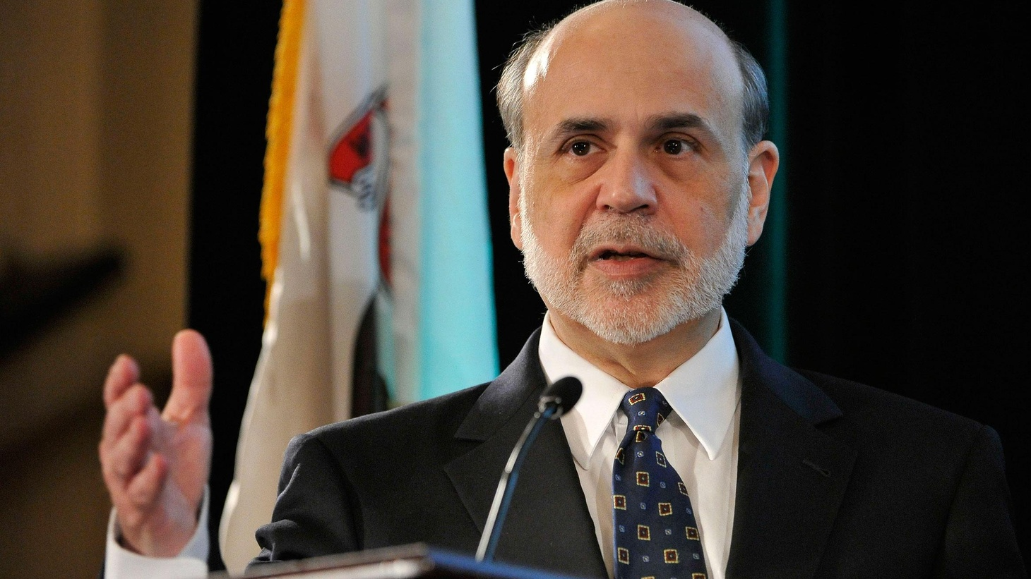 Fed Chair Bernanke takes a jab at partisan politics but offers no steps to bolster the economy. Also, Rick Perry's surge in the polls, and VP Dick Cheney's memoir...