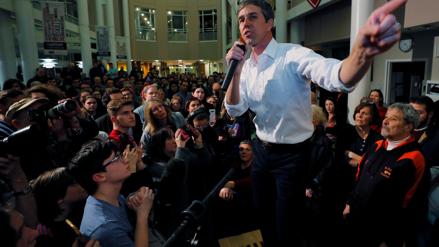 Democratic 2020 U.S. presidential candidate and former U.S. Representative Beto O'Rourke speaks at a campaign stop at Keene State College in Keene, New Hampshire, U.S., March 19, 2019.