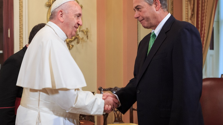 Boehner's resignation, the Pope's visit, and China's and VW's emissions.