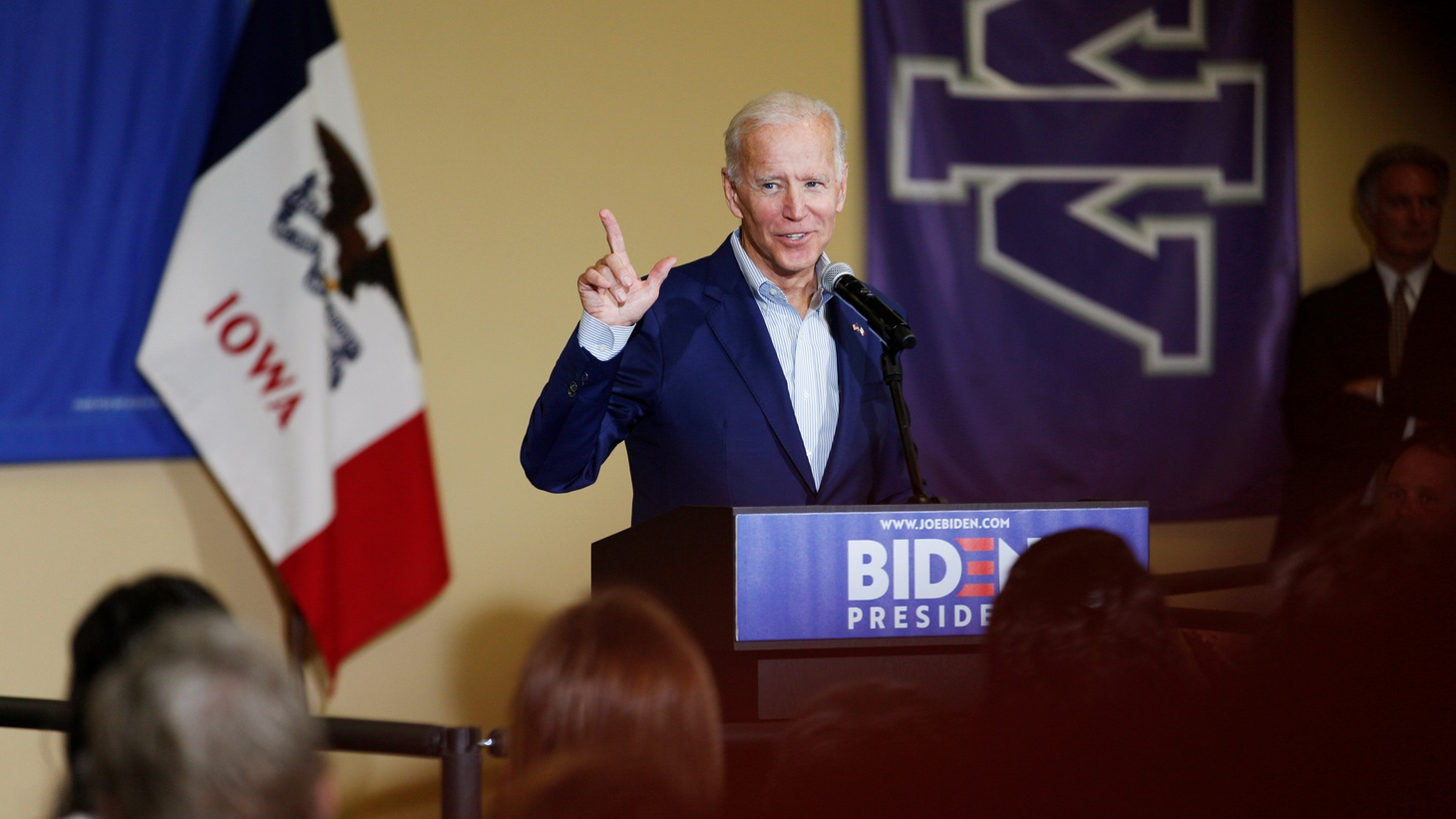 Democratic 2020 U.S. presidential candidate and former Vice President Joe Biden speaks at an event at Iowa Wesleyan University in Mount Pleasant, Iowa, U.S. June 11, 2019.