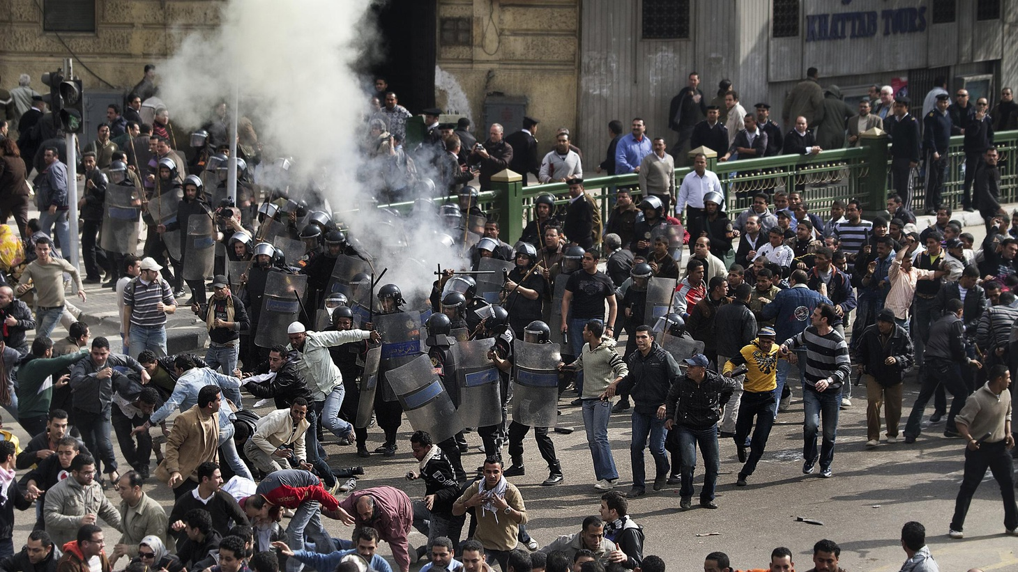 As tens of thousands of anti-government protestors take to the streets in Egypt, how will reaction from the US affect the way Egyptian authorities react to the crisis? Also, the Congressional Budget Office is projecting a record deficit of $1.5 trillion, nearly half a billion dollars higher than its previous estimate. Whose negligence and recklessness led to the 2008 financial meltdown? There's a new round of finger pointing in Thursday's 633-page report on the crisis.  Finally, the take-away from Tuesday's State of the Union address. (Guest moderator Sara Terry sits in for Matt Miller, and Ed Kilgore sits in for Arianna Huffington.)