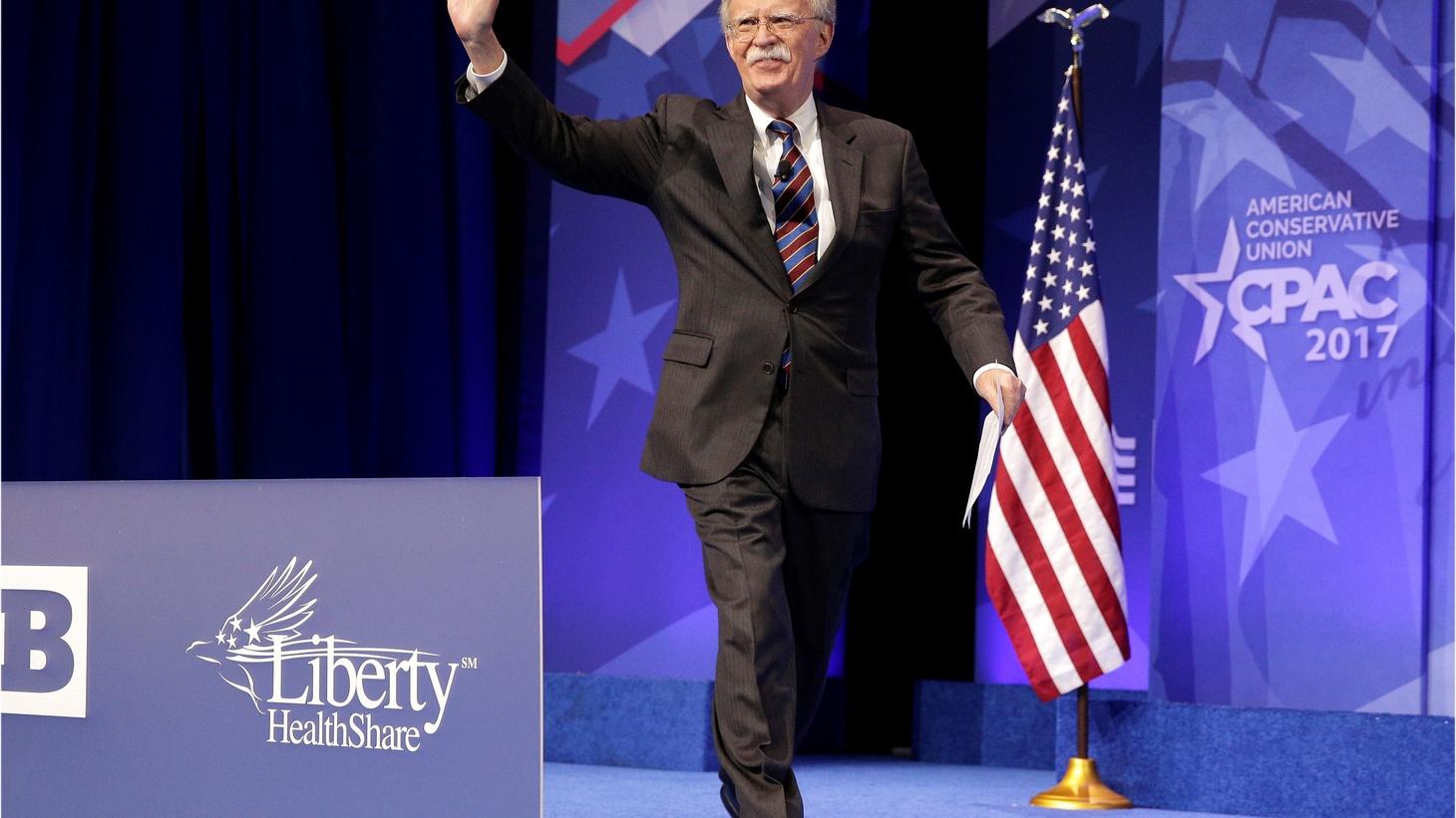 John Bolton- a hawk's hawk- becomes Trump's National Security Advisor.