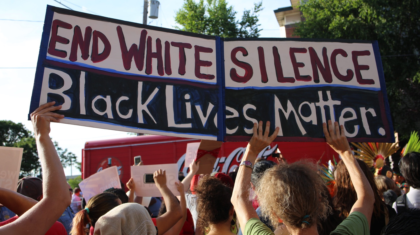 Black Lives Matter protest in Minneapolis.