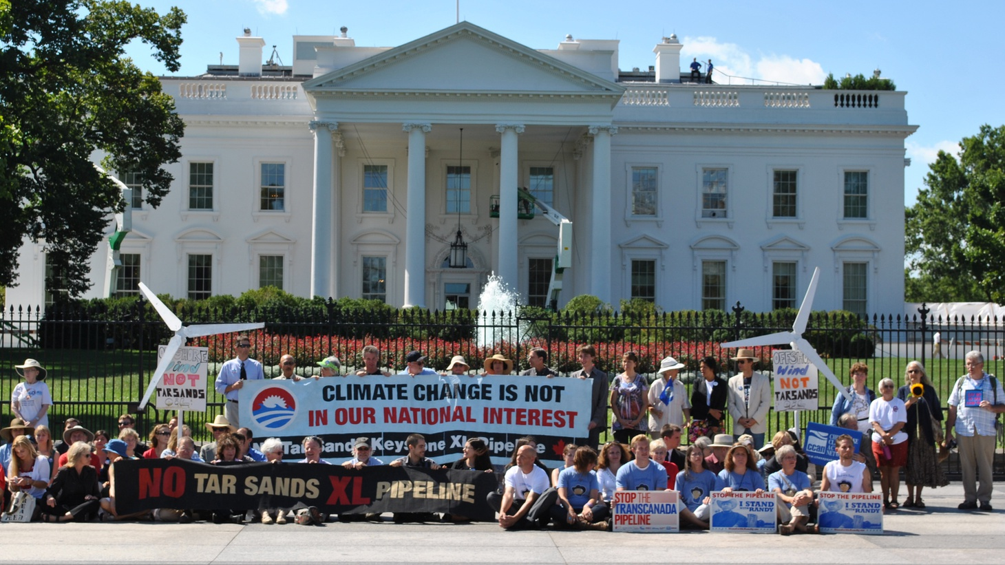 Obama rejects the Keystone Pipeline over climate concerns, Republicans fight for first place.