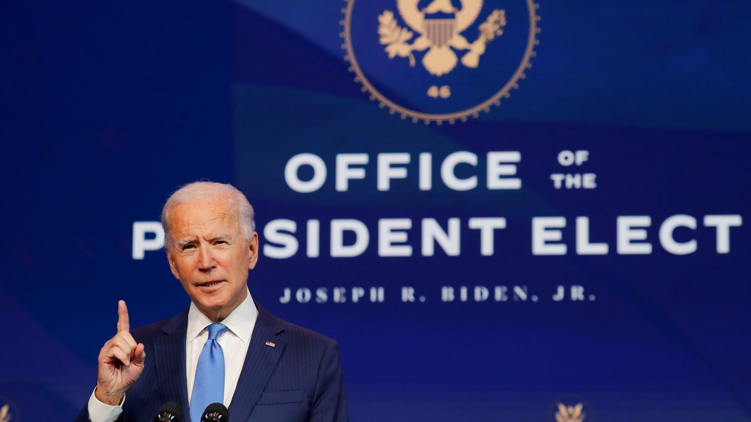 U.S. President-elect Joe Biden speaks to reporters as he announces more nominees and appointees during a news conference at his transition headquarters in Wilmington, Delaware, U.S., December 11, 2020.
