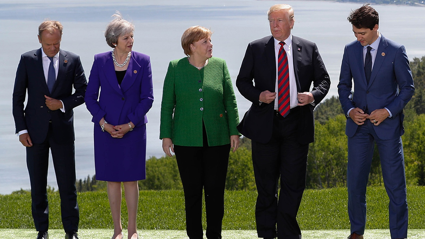 President Trump says Russia should be invited back to the group of world leaders.