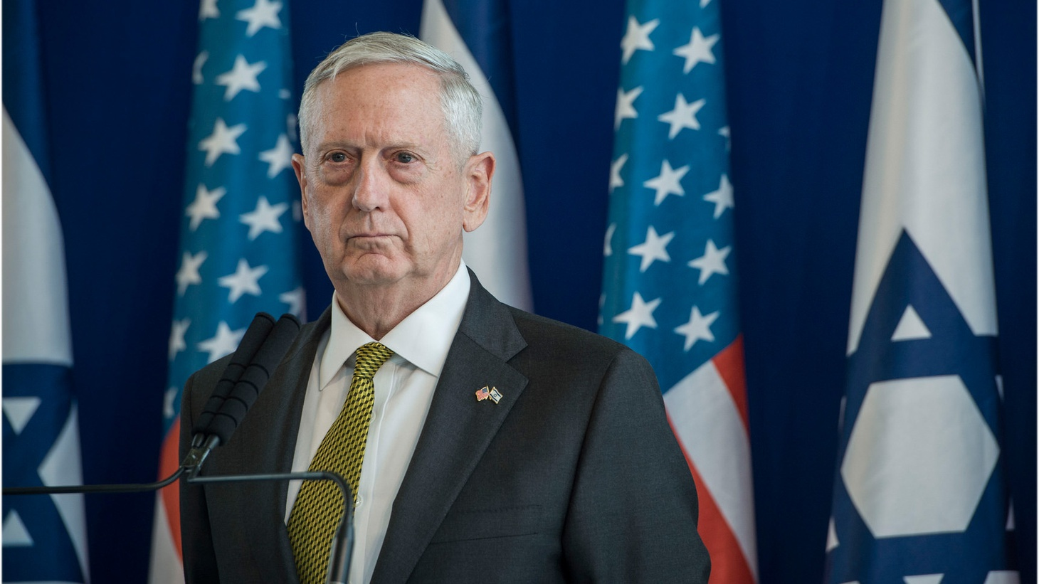 Secretary of Defense Jim Mattis and Israel's Minister of Defense Avigdor Lieberman host a joint press conference at the Israeli Ministry of Defense in Tel Aviv, Israel, April 21, 2017. Mattis is the first cabinet member from the new administration to visit Israel.