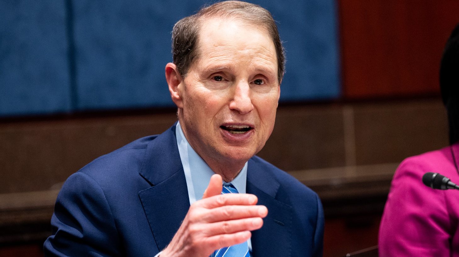 June 23, 2021 - Washington, DC, United States: U.S. Senator Ron Wyden (D-OR) speaking at a Senate Climate Change Taskforce discussion about a proposal to create a Civilian Climate Corps.