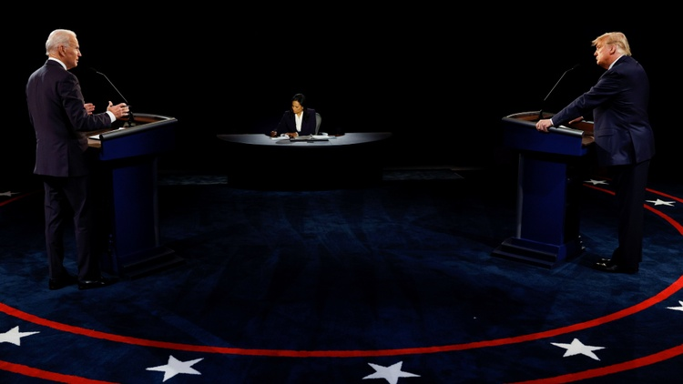 It was the last debate of the campaign, and it was less crazy than the last one. NBC's Kristen Welker kept it on lockdown with some help from a mute button.