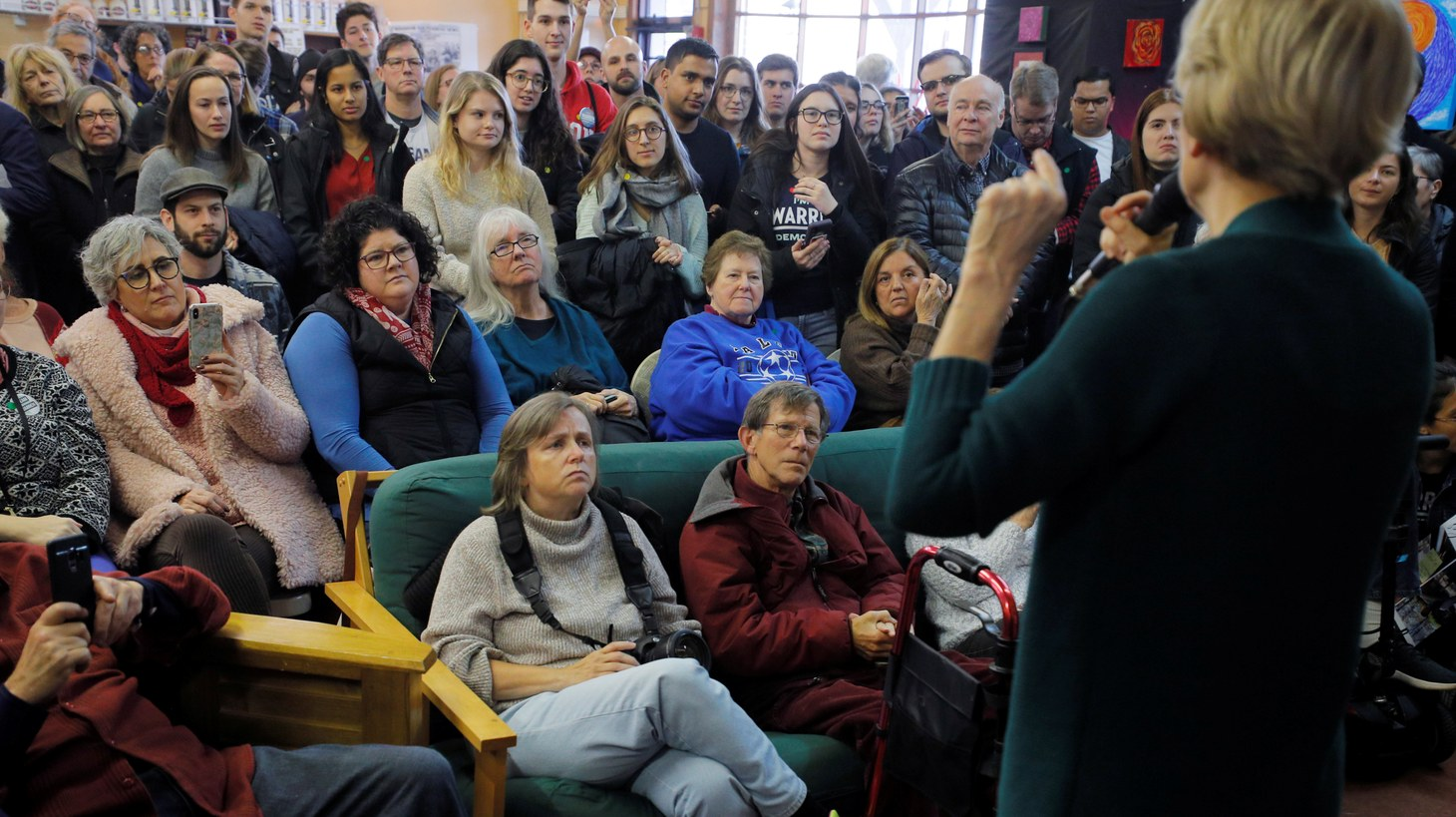 Democratic 2020 U.S. presidential candidate and U.S. Senator Elizabeth Warren (D-MA) speaks to supporters at a campaign canvass kick-off in Salem, New Hampshire, U.S., November 23, 2019.