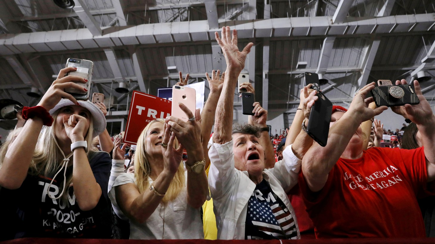 Supporters attend a rally by U.S. President Donald Trump in Monroe, Louisiana, U.S., November 6, 2019.