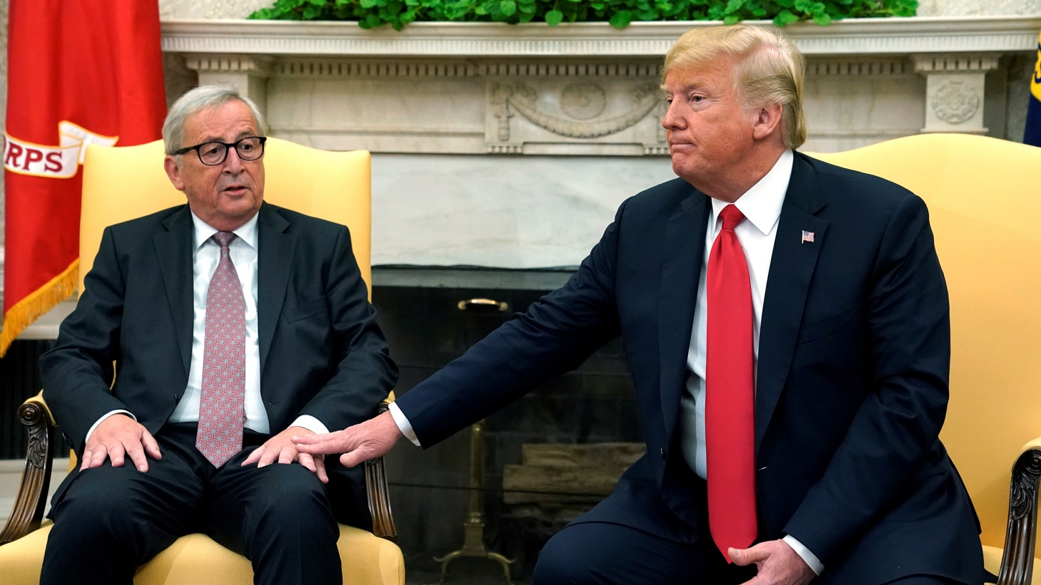 President Trump and Jean-Claude Juncker had very friendly meetings on trade and tariffs.