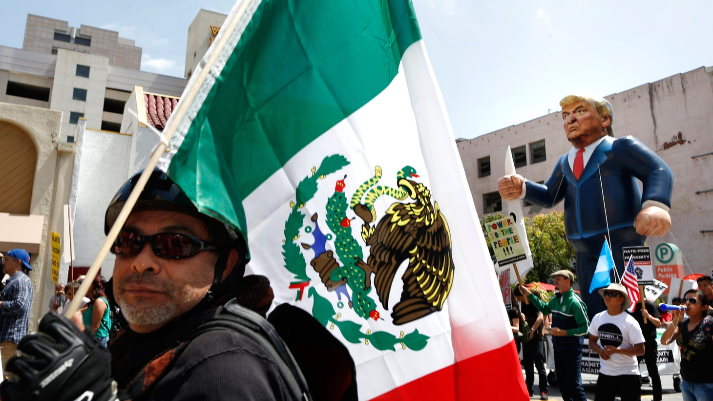 Is it OK to wave a Mexican flag at a Donald Trump protest?