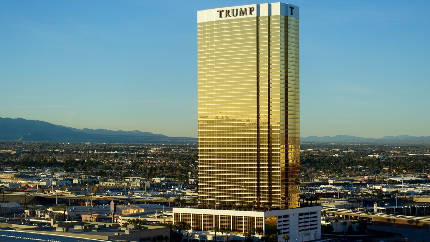 The Trump International Hotel & Tower owned by President-elect Donald Trump is seen in Las Vegas