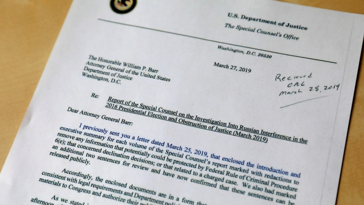 Robert Mueller's letter to Attorney General Barr raises questions about Barr's summary of the Mueller report and Rod Rosenstein resigns praising President Trump's courtesy and humor.
