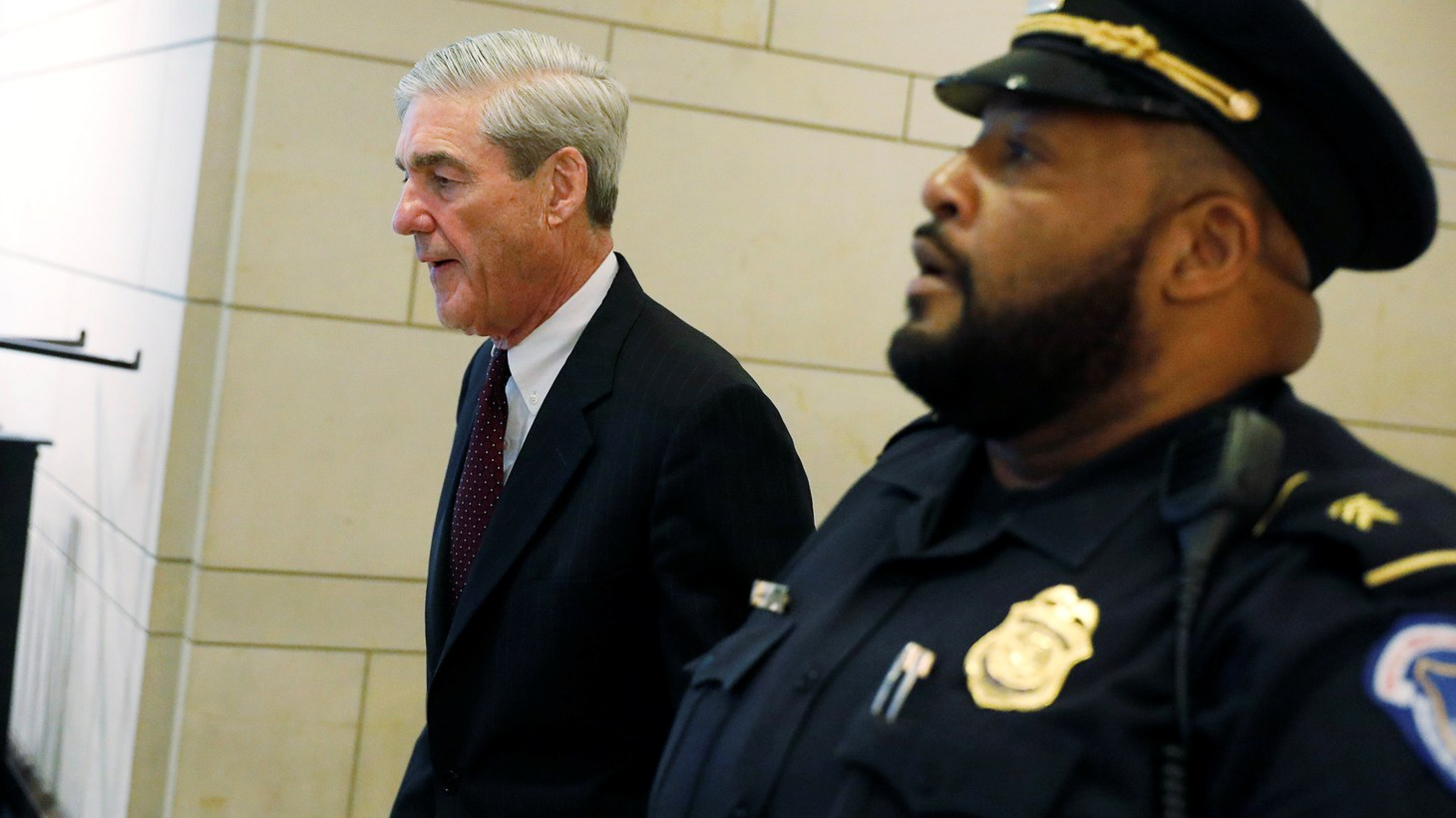 Special Counsel Robert Mueller departs after briefing the U.S. House Intelligence Committee on his investigation of potential collusion between Russia and the Trump campaign on Capitol Hill in Washington, U.S., June 20, 2017.