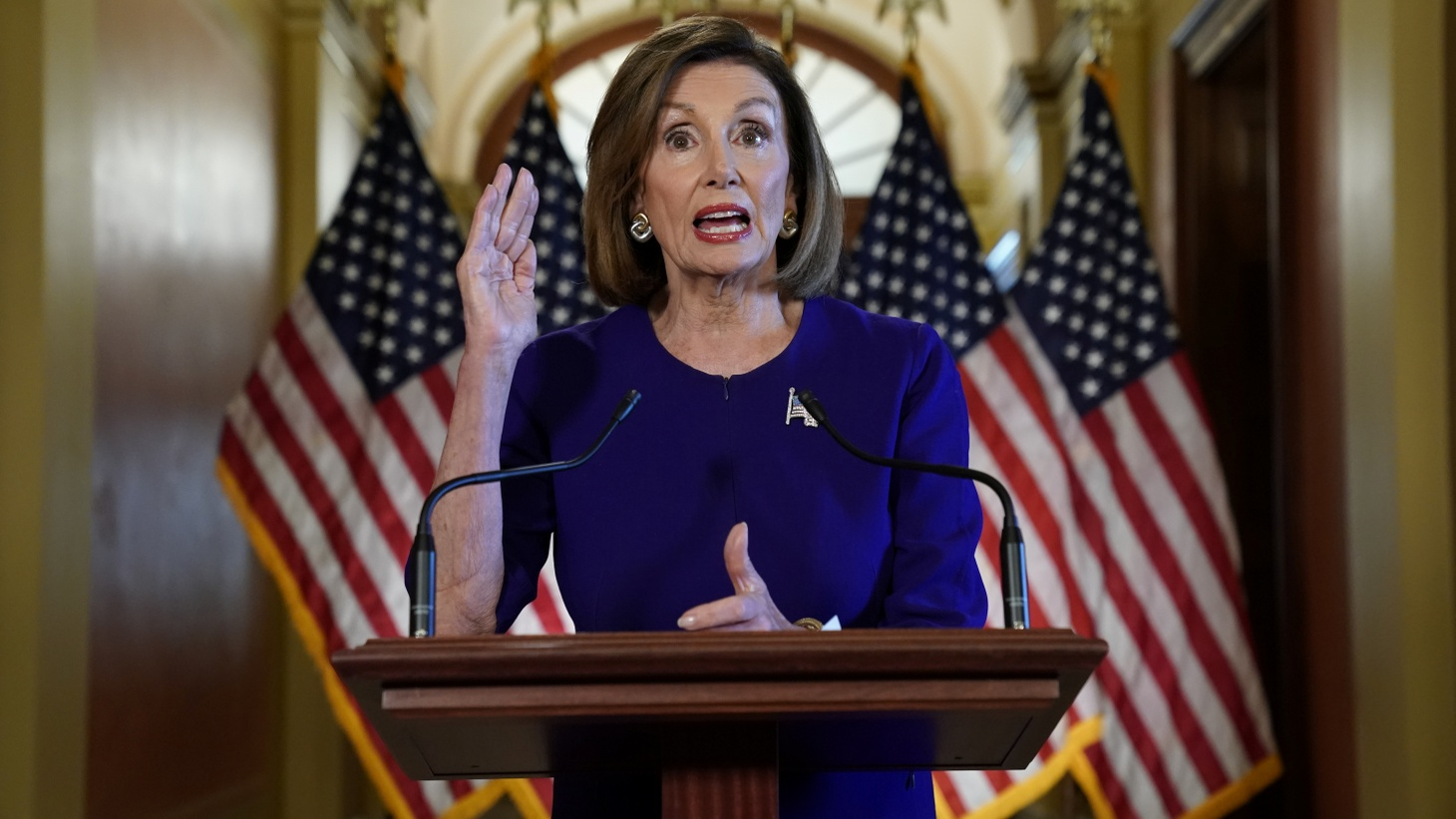 House Speaker Nancy Pelosi (D-CA) announces the House of Representatives will launch a formal inquiry into the impeachment of U.S. President Donald Trump following a closed House Denocratic caucus meeting at the U.S. Capitol in Washington, U.S., September 24, 2019.