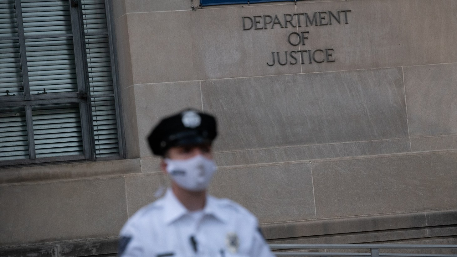 A general view of the U.S. Department of Justice, in Washington, D.C., on Tuesday, June 15, 2021. Recent news reports have revealed a growing scandal at the Trump Administration Justice Department, that carried into the early Biden Administration, where journalists and Members of Congress had their email records subpoenaed in leak investigations in acts of apparent political retribution.