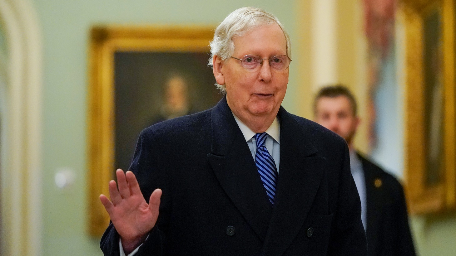 Senate Majority Leader Mitch McConnell (R-KY) arrives prior to opening arguments in the impeachment trial of U.S. President Donald Trump on Capitol Hill in Washington, U.S., January 22, 2020.